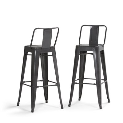 Rayne Metal 30 Bar Stool Color: Gray