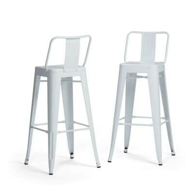 Rayne Metal 30 Bar Stool Color: White