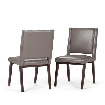 Draper Mid Century Deluxe Upholstered Dining Chair Color: Gray