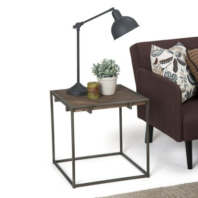 Avery Narrow End Table Size: 20 H x 20 W x 20 D