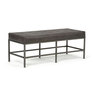 Beckett Faux Leather Bench AXCOT-271L-DBL