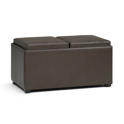 Avalon 5 Piece Storage Ottoman Upholstery: Chocolate Brown