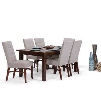 Ezra 7 Piece Dining Set Chair Color: Cloud Gray