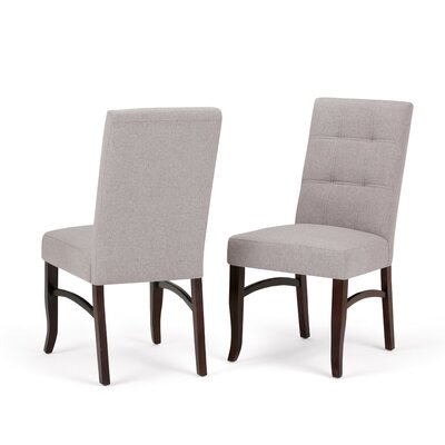 Ezra Deluxe Upholstered Dining Chair Upholstery Color: Cloud Gray