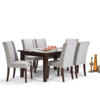 Sotherby 7 Piece Dining Set Chair Color: Cloud Gray