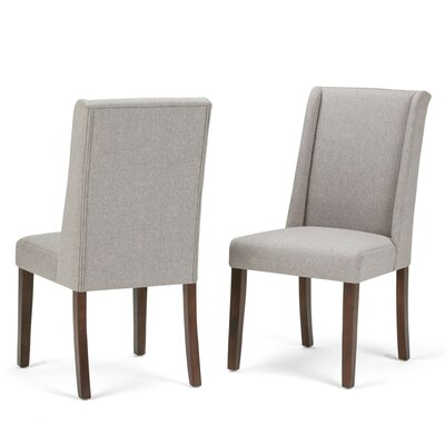 Sotherby Deluxe Upholstered Dining Chair Upholstery Color: Cloud Gray