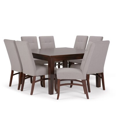 Ezra 9 Piece Dining Set Chair Color: Cloud Gray
