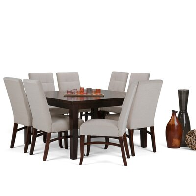 Ezra 9 Piece Dining Set Chair Color: Platinum