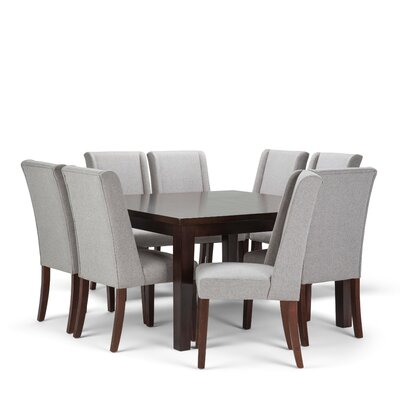 Sotherby 9 Piece Dining Set Chair Color: Cloud Gray