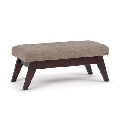 Draper Mid Century Tufted Ottoman Upholstery: Fawn Brown