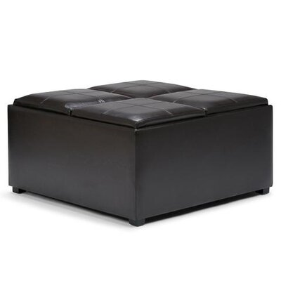 Avalon Storage Ottoman Upholstery: Faux Leather Tanners Brown