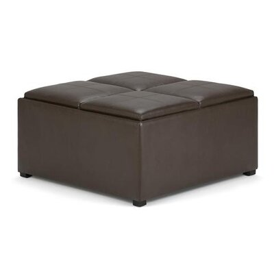 Avalon Storage Ottoman Upholstery: Faux Leather Chocolate Brown