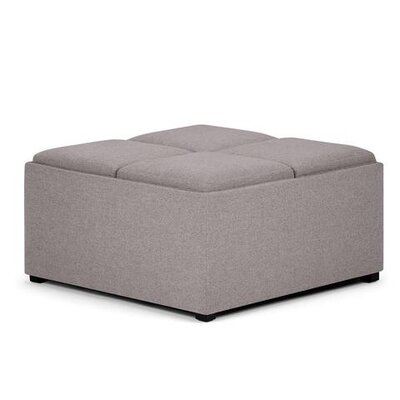 Avalon Storage Ottoman Upholstery: Cloud Gray