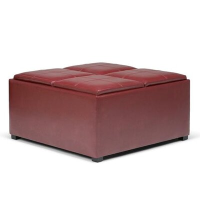 Avalon Storage Ottoman Upholstery: Faux Leather Radicchio Red