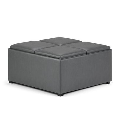 Avalon Storage Ottoman Upholstery: Stone Gray