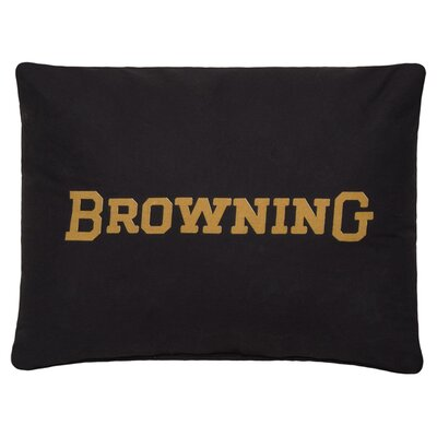 Buckmark Logo Cotton Throw Pillow