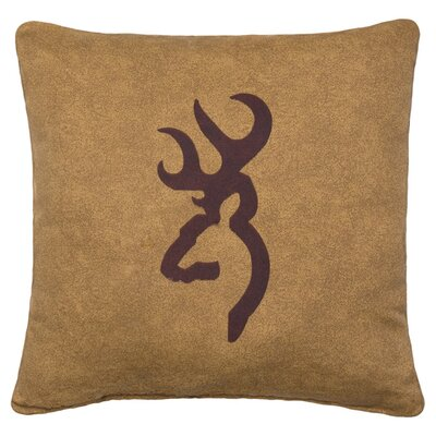 Buckmark Logo Cotton Throw Pillow Color: Tan
