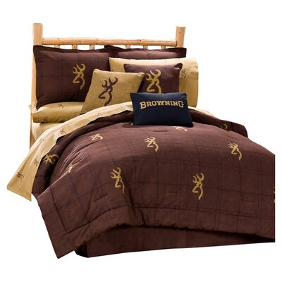Buckmark 4 Piece Comforter Set Size: Queen