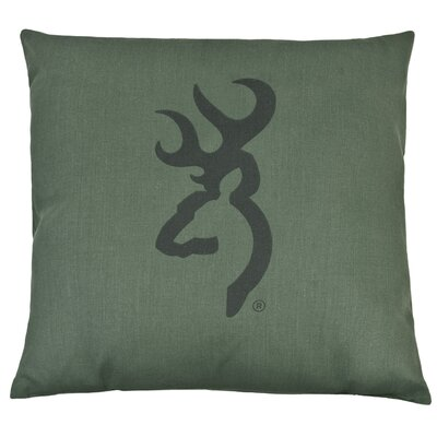 Buckmark Camo Logo Throw Pillow Color: Light Green