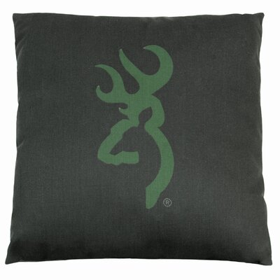 Buckmark Camo Logo Throw Pillow Color: Dark Green