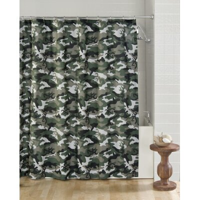 Buckmark Shower Curtain Color: Green