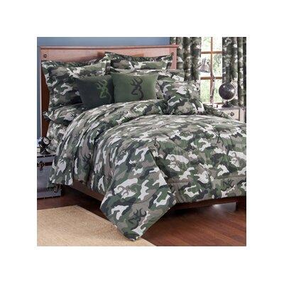 Buckmark Camo Comforter Set Size: Full, Color: Green
