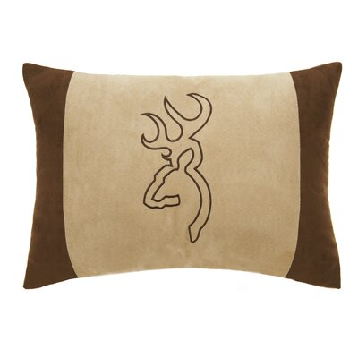 Buckmark Embroidered Throw Pillow Color: Brown/Beige