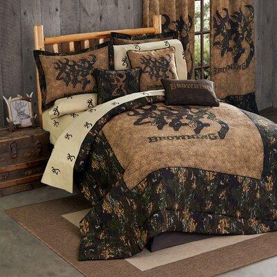 3D Buckmark Comforter Set Size: Queen