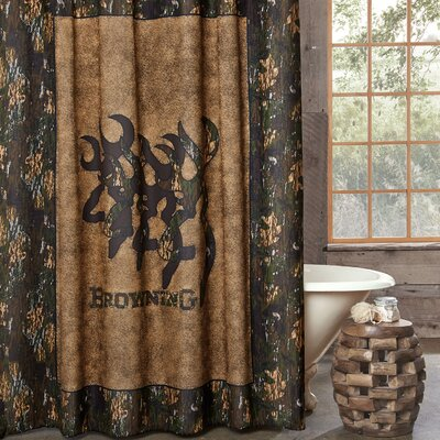 3D Buckmark Cotton Shower Curtain