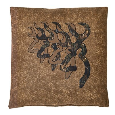 3D Buckmark Cotton Throw Pillow Size: 20 H x 20 W