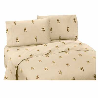 Buckmark 200 Thread Count 100% Cotton Sheet Set Size: Twin