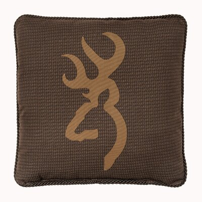 Buckmark Cotton Throw Pillow Color: Brown