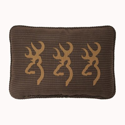 Buckmark Cotton Lumbar Pillow