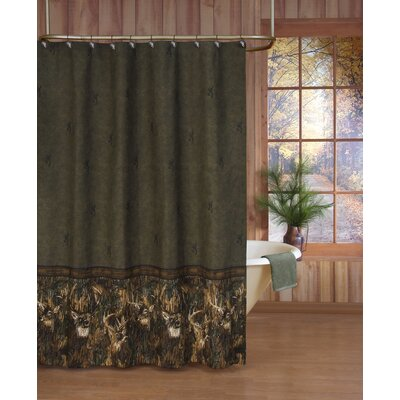 Whitetails Shower Curtain in Green