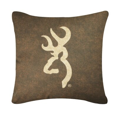 Buckmark Logo Throw Pillow Color: Brown