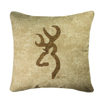 Buckmark Logo Throw Pillow Color: Tan