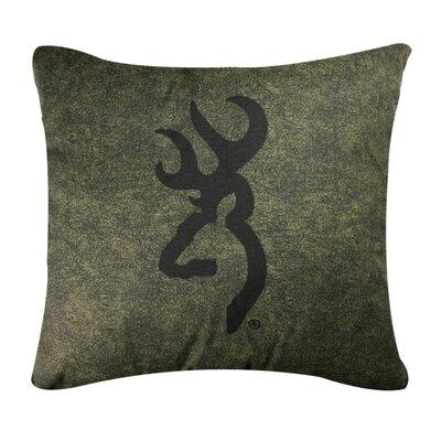 Buckmark Logo Throw Pillow Color: Green