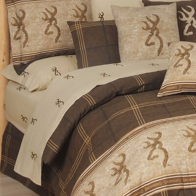 Buckmark Sheet Set Size: Queen, Color: Tan