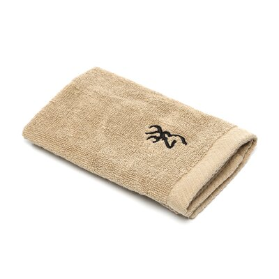 Buckmark Wash Cloth Color: Tan