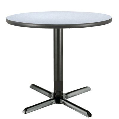 36 Pedestal Table Shape: Square, Size: 42, Table Top Color: Crisp Linen