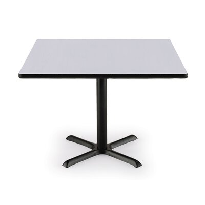 36 Pedestal Table Table Top Color: Grey Nebula, Shape: Square, Size: 42