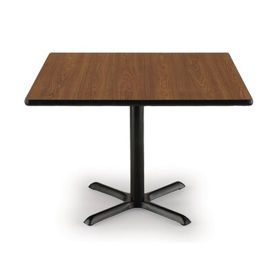 36 Pedestal Table Table Top Color: Medium Oak, Shape: Square, Size: 42