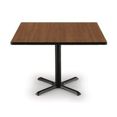 36 Pedestal Table Table Top Color: Medium Oak, Shape: Square, Size: 36