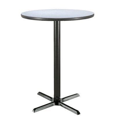 30 Round Pedestal Table Color: Grey Nebula, Size: 42H x 30W