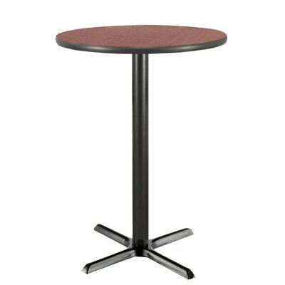 30 Round Pedestal Table Color: Mahogany, Size: 42H x 30W