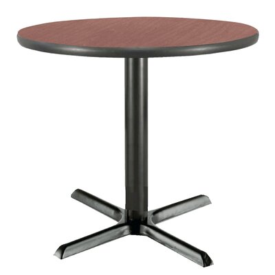 30 Round Pedestal Table Color: Mahogany, Size: 29H x 30W