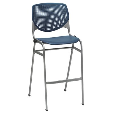 Lundell 30 Bar Stool Upholstery: Navy