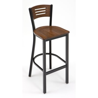 30 Bar Stool Upholstery: Walnut