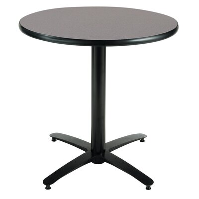 Round Pedestal Table with Arched X Base Size: 42 H x 42 W x 42 D, Top Finish: Graphite Nebula