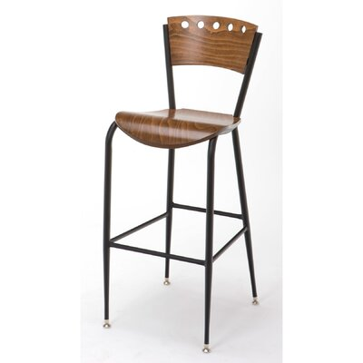 31 Bar Stool Upholstery: Walnut